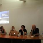 Lançamento e Mesa Redonda Paço das Artes. Priscila Arantes, Rachel Rosalen, Rafael Marchetti and Gabriel V. Soucheyre.