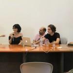 Lançamento e Mesa Redonda Paço das Artes. Priscila Arantes, Rachel Rosalen, Rafael Marchetti, Gabriel V. Soucheyre, Denise Mattar e Rogério Borovik.